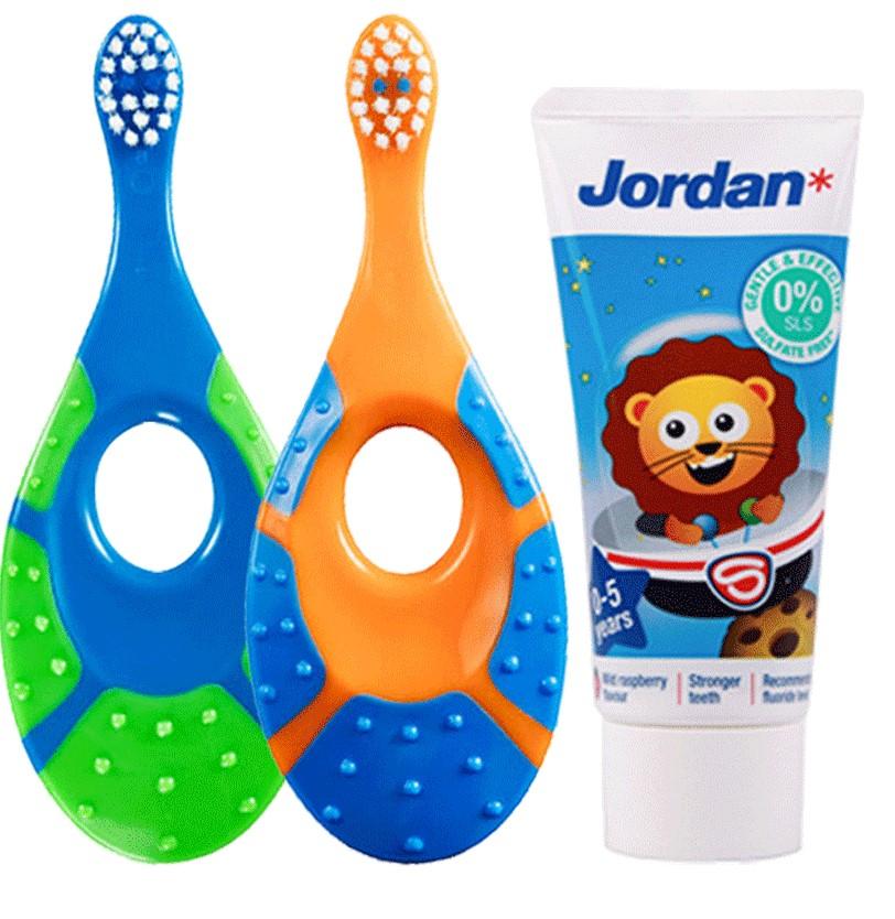 JORDAN Jordan儿童牙刷2支牙刷+1支牙膏