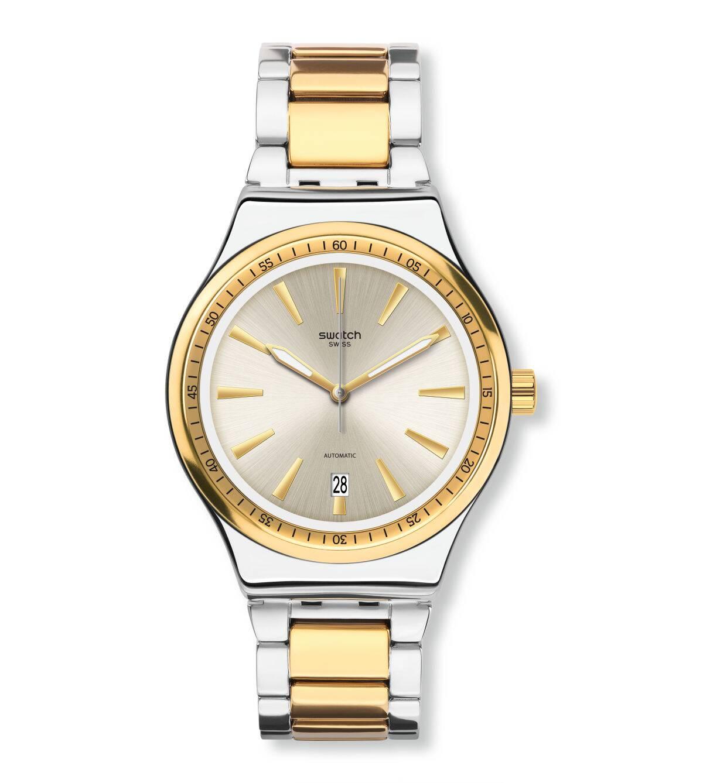 Swatch斯沃琪瑞士腕表2020新品时尚机械腕表金属表带YIS429G