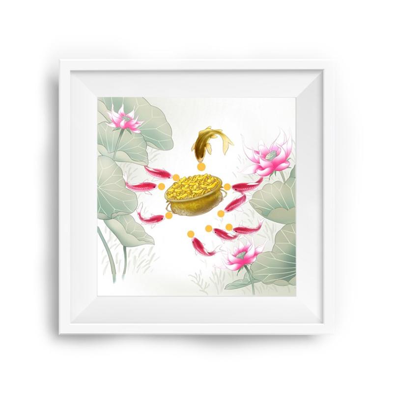 《莲有鱼》装饰壁画
