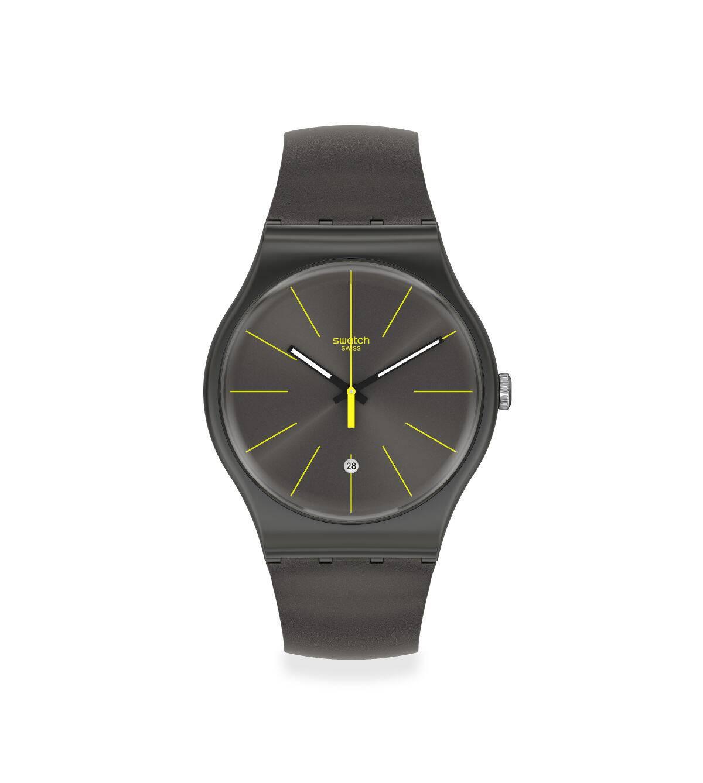 Swatch斯沃琪瑞士腕表2020新品酷感摩登时尚休闲石英表SUOB404
