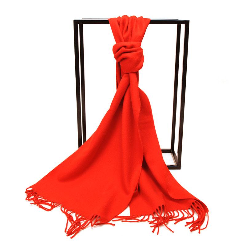艾丝雅兰 A-D300 开门红围巾 大红色围巾披肩两用定制秋冬季开门红加厚宽保暖仿羊绒纯色
