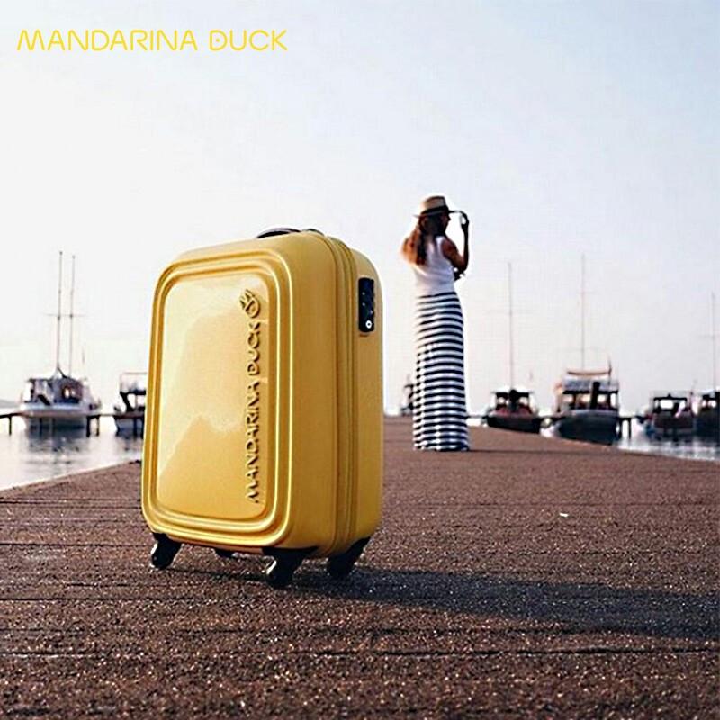 MandarinaDuck 意大利鸳鸯LOGODUCK系列20寸黄色旅行箱 黄色20寸